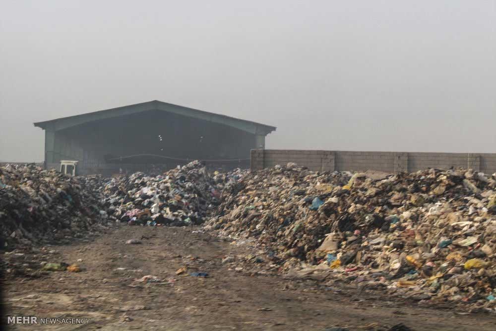 عکس   آتش سوزی در سایت دفن زباله سفیره اهواز