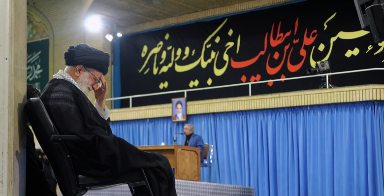 برگزاری مراسم سوگواری شهادت مظلومانه امام علی(ع)در حضور رهبر انقلاب