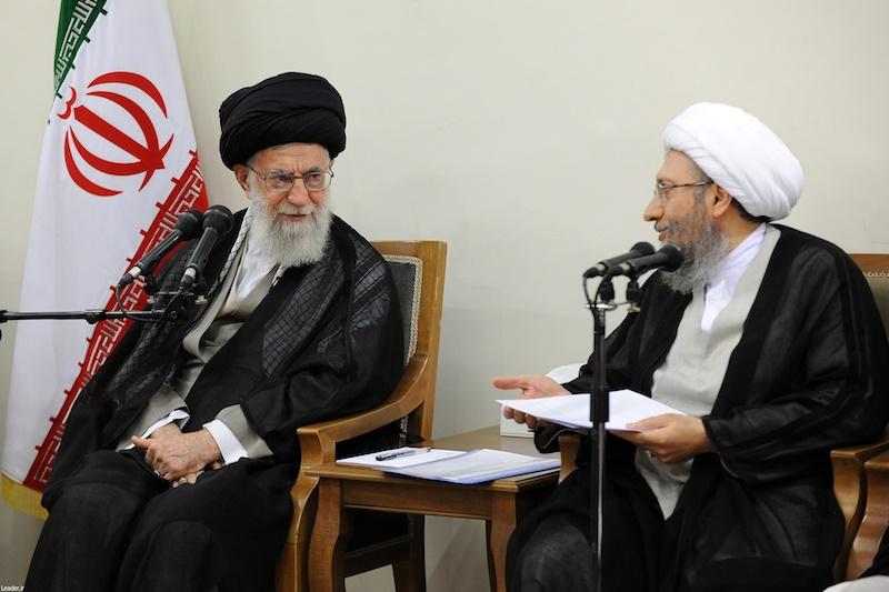 آملیلاریجانی در دیدار رئیس و مسئولان قوهقضاییه با رهبر انقلاب: ورودی زندانها ۲۰درصد کاهش یافته است