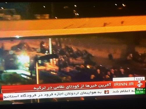 استثنایی ترین لحظه در تاریخ یک شبکه تلویزیونی ایران/خبرنگار ایرانی،نزدیک تانک کودتاگران!