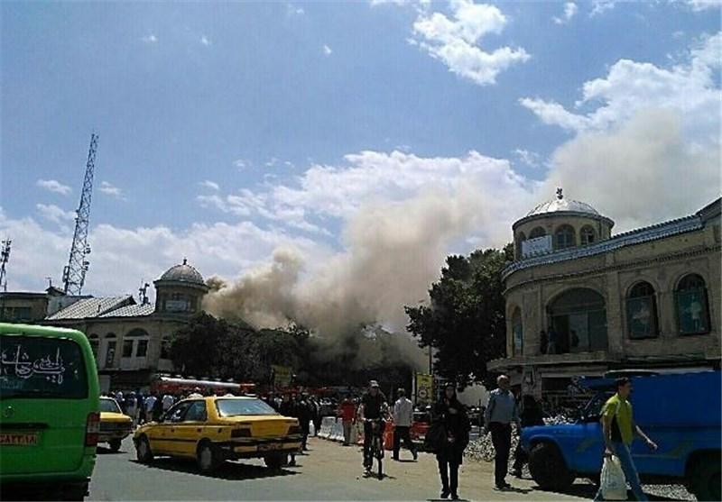 آتش سوری بخشی از بنای تاریخی میدان امام خمینی(ره) همدان