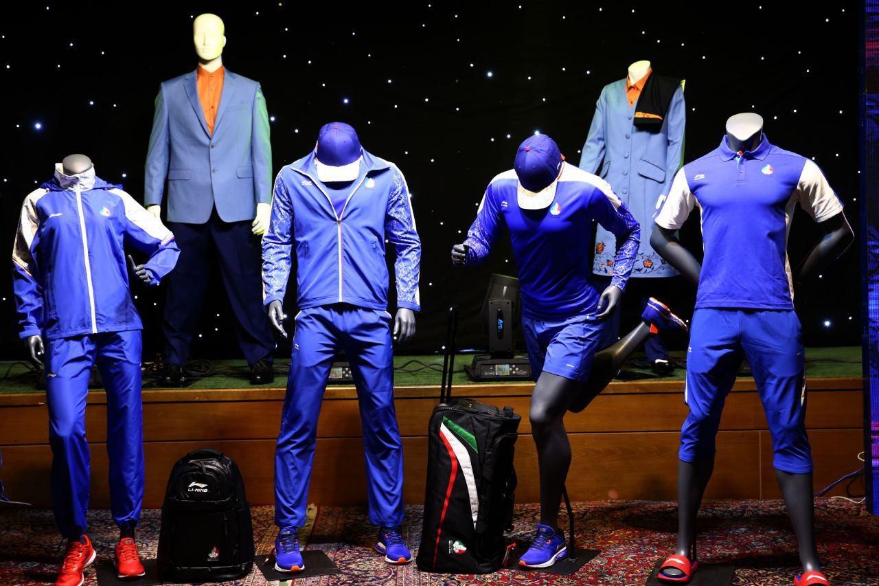 تصاویری از لباس های ورزشی کاروان ایران در المپیک/برگرفته از نقش و نگارهای ایرانی