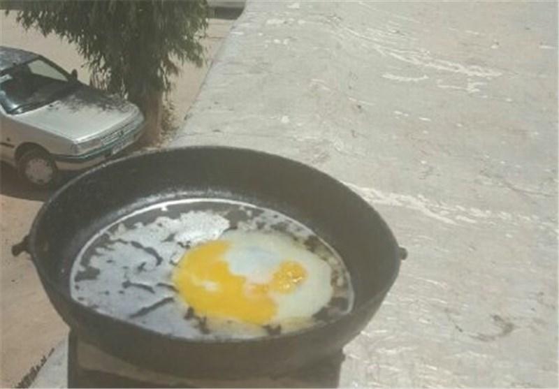 ویدئو | پخت نیمرو در هوای بالای 50 درجه اهواز