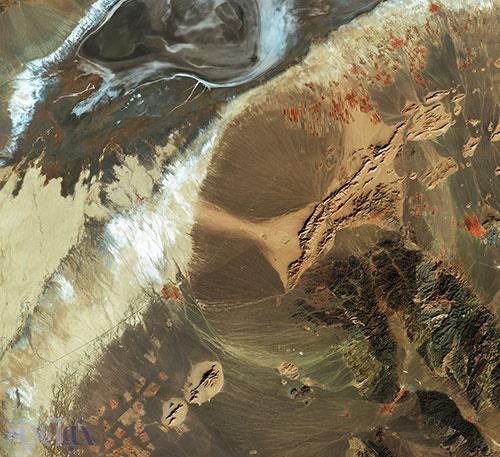 نقاشی ایرانی؛عکس خارقالعاده که آژانس فضایی اروپا از شمال شرق کشور منتشر کرد