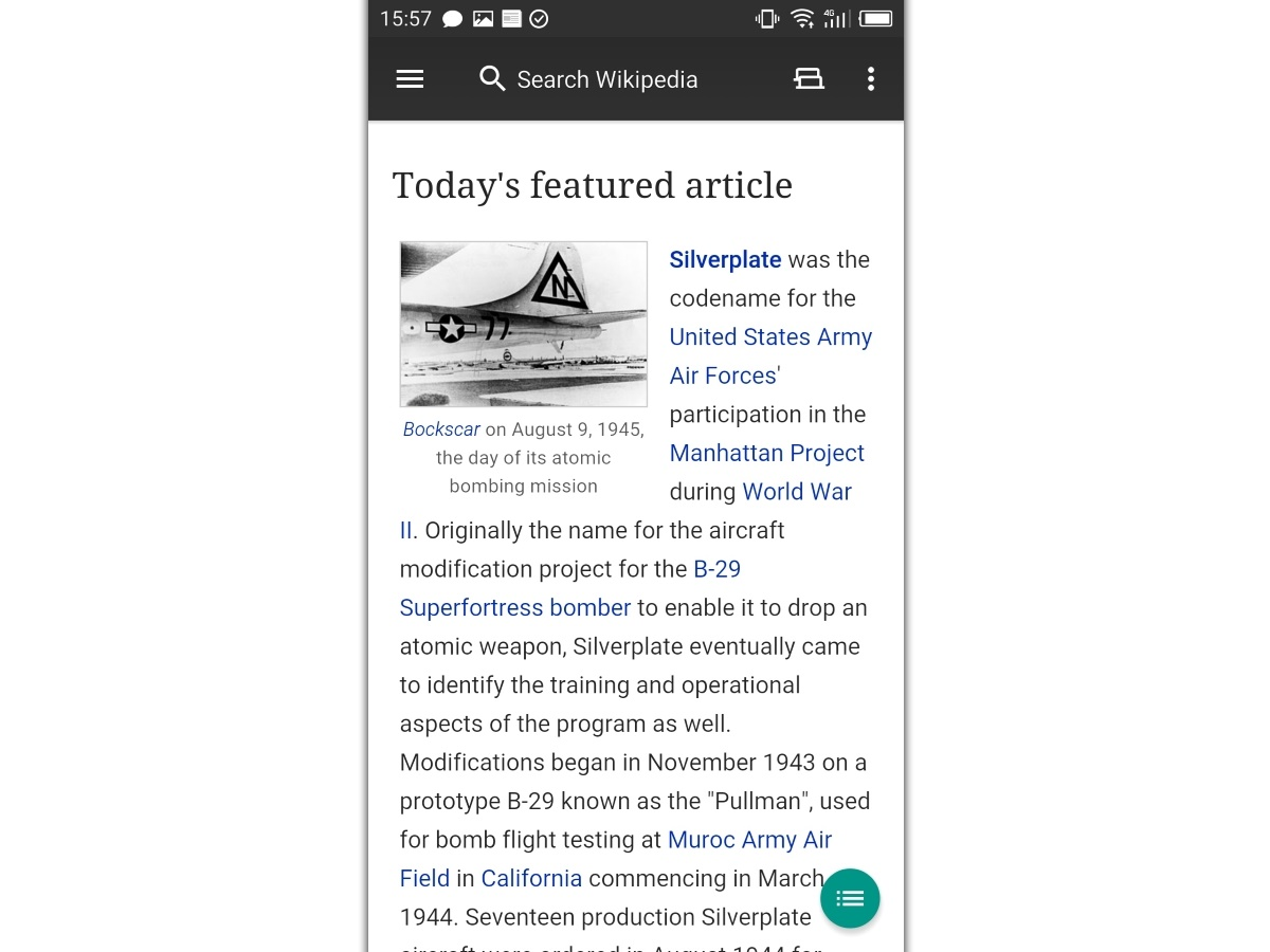 رخت و لباس اپلیکیشن ویکیپدیا روی اندروید نو شد