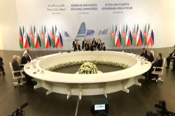 فیلم   گزیده اظهارات روحانی در نشست سهجانبه با سران روسیه و آذربایجان