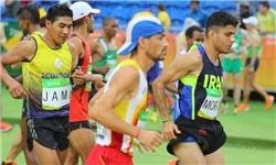 محمدجعفر مرادی : تا 25 کیلومتر با نفرات برتر پایاپای دویدم
