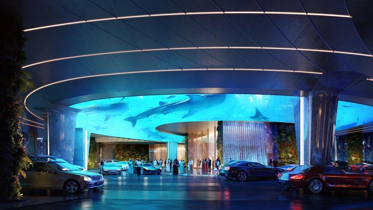 هتلی عجیب در دبی؛ طبقه اول این هتل جنگل است، پشتبام آن استخر!