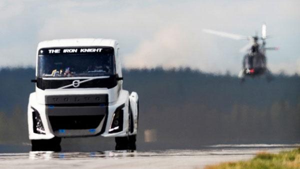 16 8 28 125141472074374254 - شوالیه آهنین؛ کامیون«ولوو» رکوردشکن سرعت دنیا