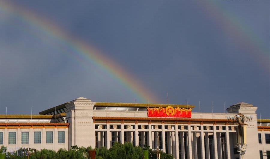 تصاویر | وقتی رنگینکمان در آسمان پکن خودنمایی میکند