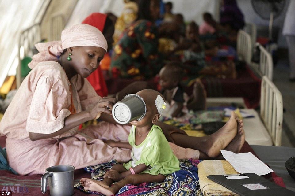 تصاویر دردناک از کودکان گرسنه نیجریه