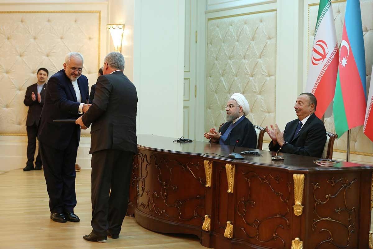 تصاویر   امضاء شش سند همکاری میان ایران و جمهوری آذربایجان