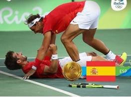 مدال طلای دو نفره تنیس المپیک برای نادال،لوپز و اسپانیا