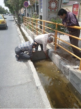 راهکاری برای کاهش راهبندان روزهای بارانی و بوی بد جویها /لایروبی ۴۵۰کیلومتری انهار در قلب پایتخت