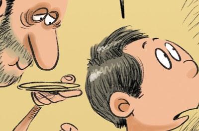 کاریکاتور   عمه شادونه و سلطان شیشه!