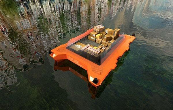 آزمایش قایقهای خودران در آمستردام