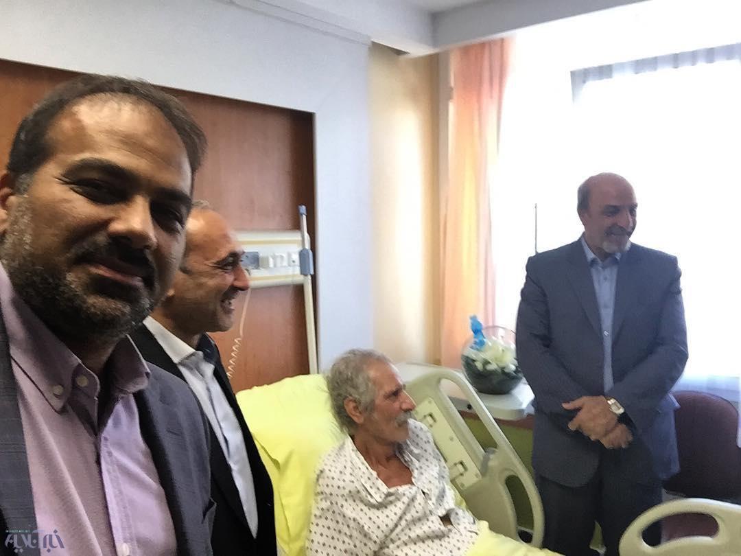 عکس | عیادت وزیر ورزش از منصور پورحیدری