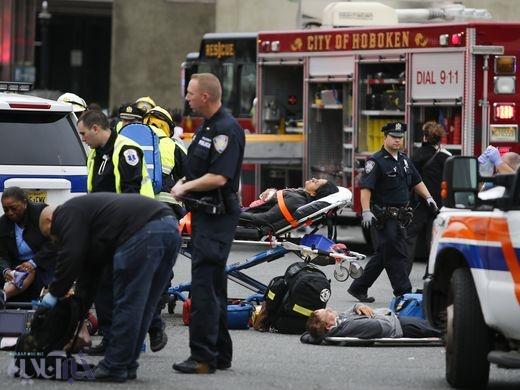 تصاویر | تصادف قطار در ایستگاه ایالت نیوجرسی آمریکا | ۳ کشته و ۱۰۰ زخمی