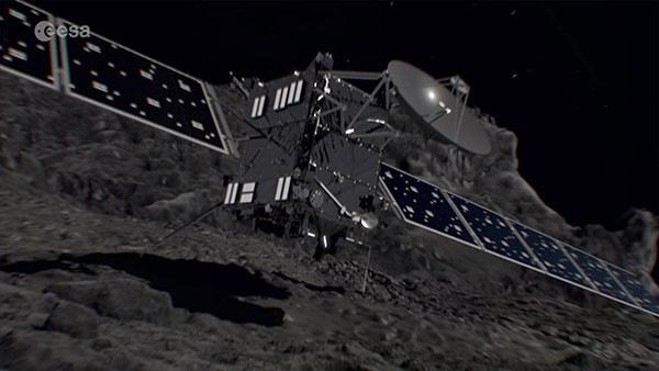 خودکشی روزتا در برخورد با دنبالهدار پی۶۷