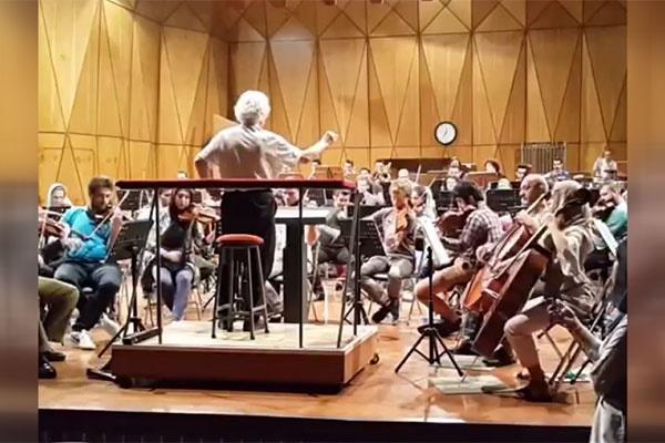 فیلم | تمرین چکناوریان و ارکستر سازهاى زهى در تالار وحدت