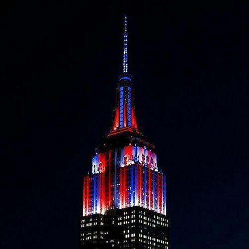 """تصویری از تغییر رنگ برج""""امپایر استیت""""به احترام بارسلونا"""