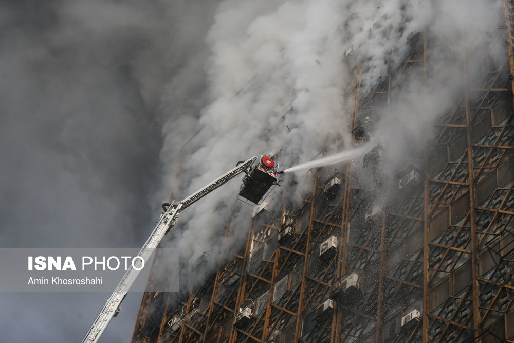 تصاویر | آتشسوزی در پلاسکو