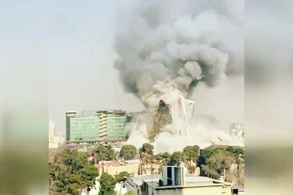 فیلم   زاویه ای متفاوت از لحظه فرو ریختن ساختمان پلاسکو