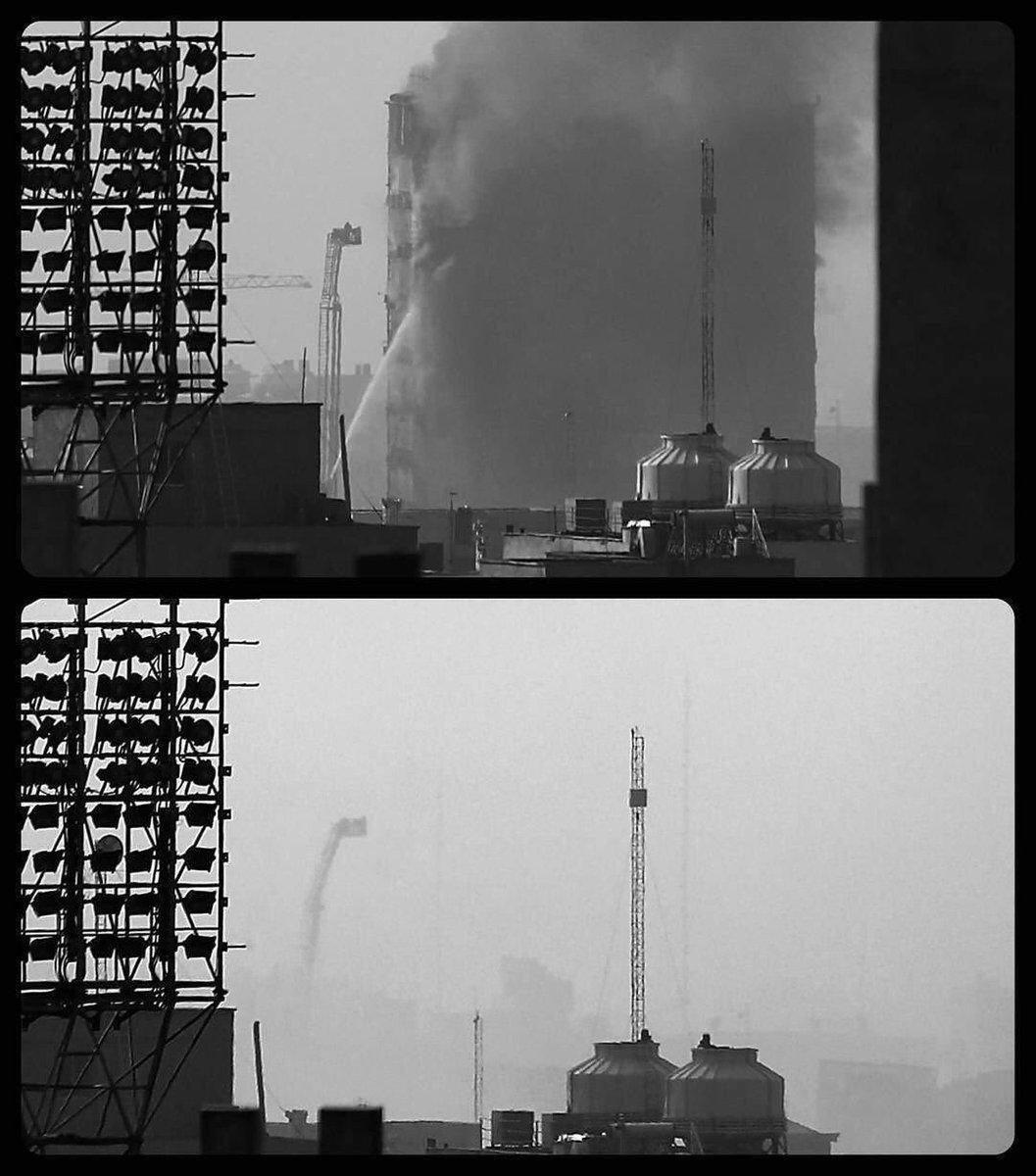 عکس   پلاسکو قبل و بعد از فروریختن