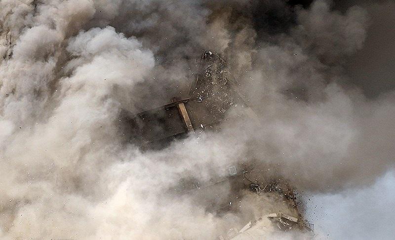 تصاویر | وقتی ساختمان پلاسکو به طور کامل فروریخت