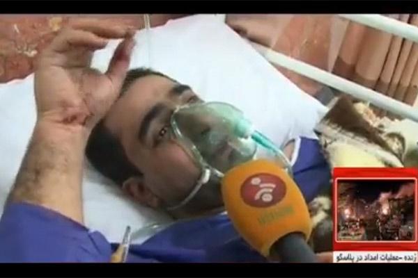 فیلم | حرفهای مصدومان بستری شده حادثه پلاسکو در بیمارستان