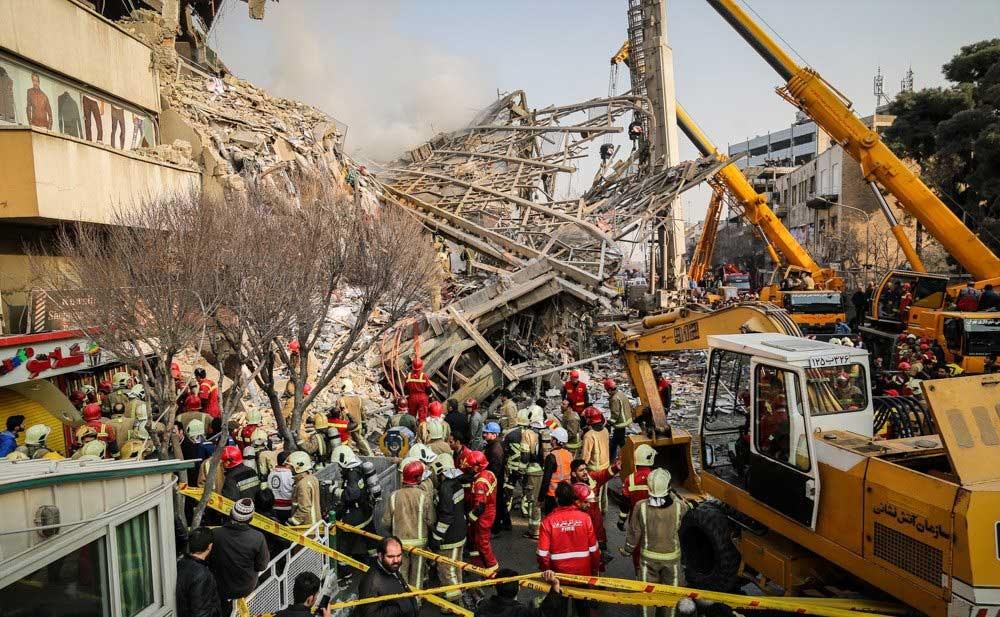 تصاویر | عملیات امداد و نجات حادثهدیدگان ساختمان پلاسکو