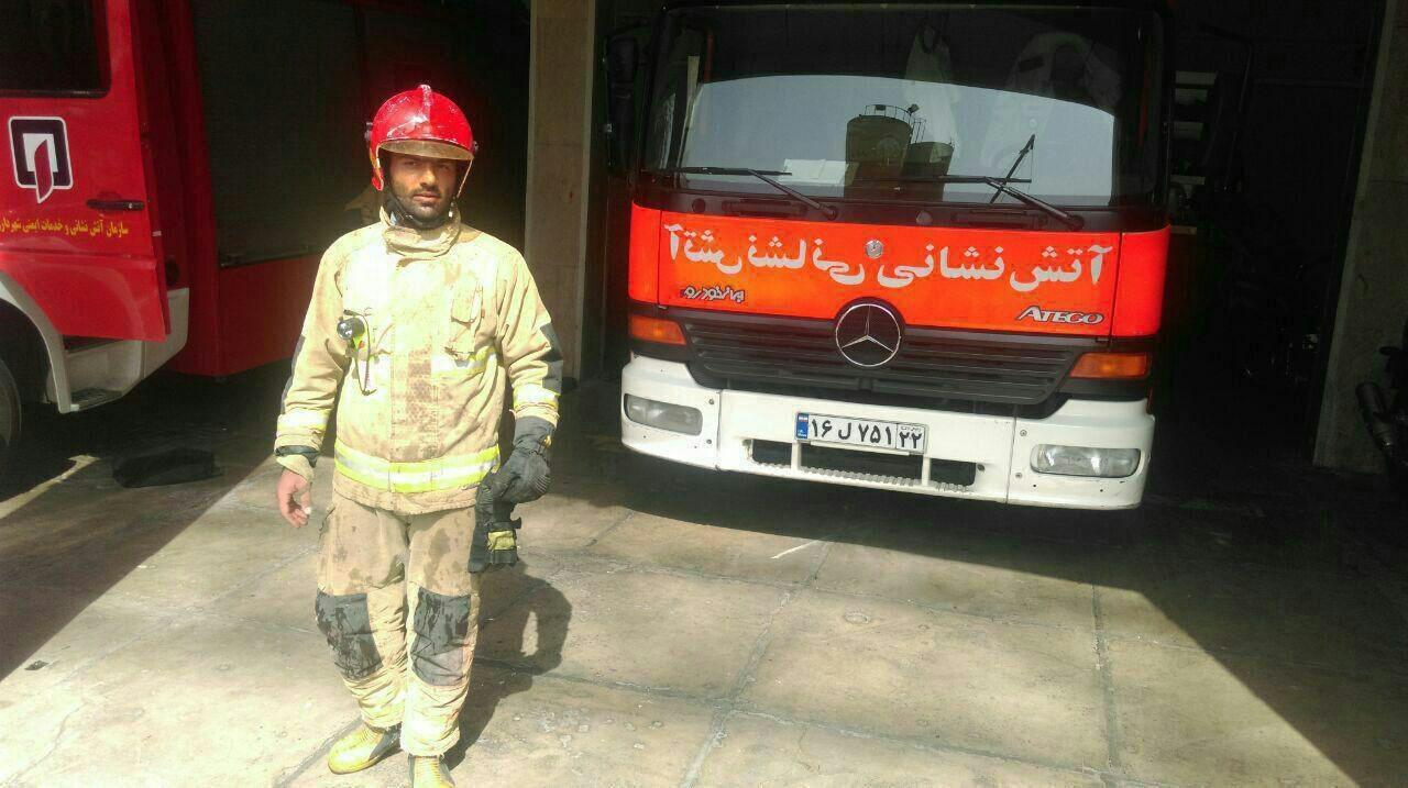 عکس | نخستین تصویر منتشرشده از شهید آتشنشان؛ بهنام میرزاخانی