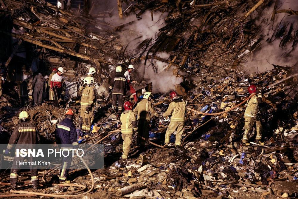 تصاویر | دومین شب حادثه پلاسکو