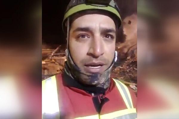 فیلم | پیام ویدئویی یکی از آتشنشانهای حاضر در عملیات پلاسکو
