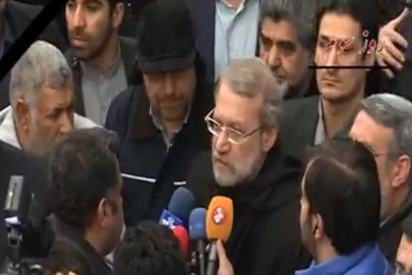 فیلم | حضور علی لاریجانی در محل حادثه ساختمان پلاسکو