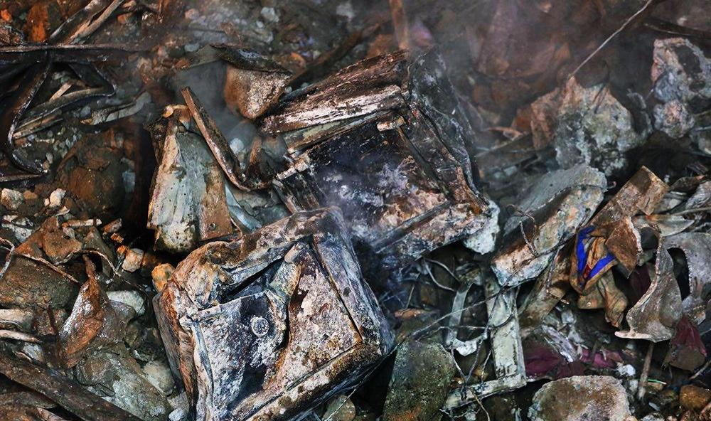 عکس |  گاوصندوقهای ذوب شده در آتشسوزی ساختمان پلاسکو