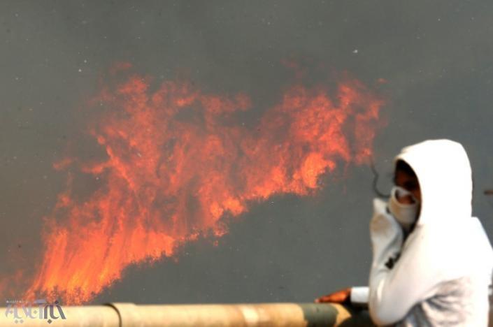 تصاویر | آتشسوزی در شیلی | ۱۹ نفر آسیب دیدند