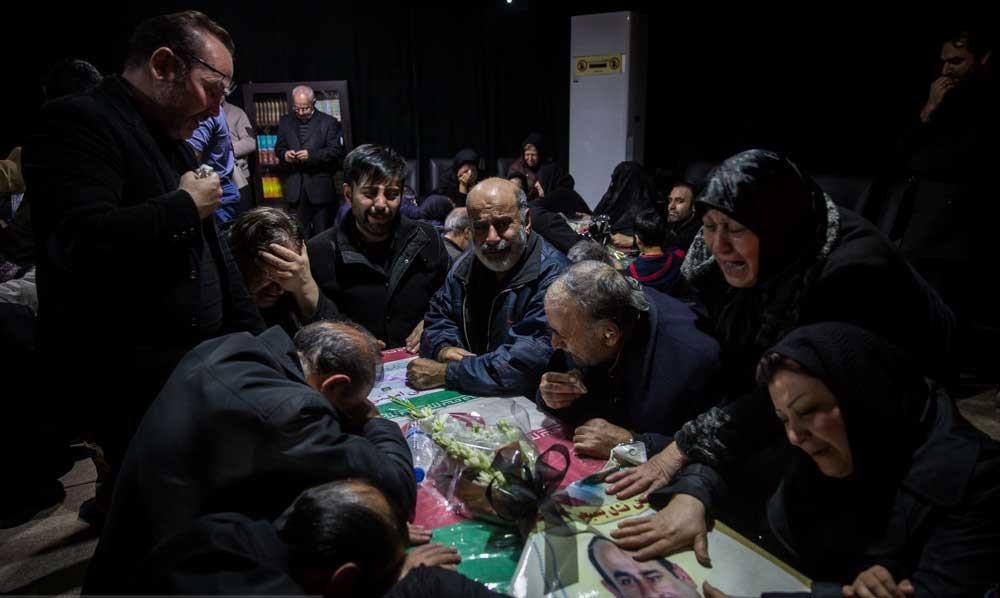 تصاویر   وداع با شهدای آتشنشان فاجعه پلاسکو در معراج شهدا