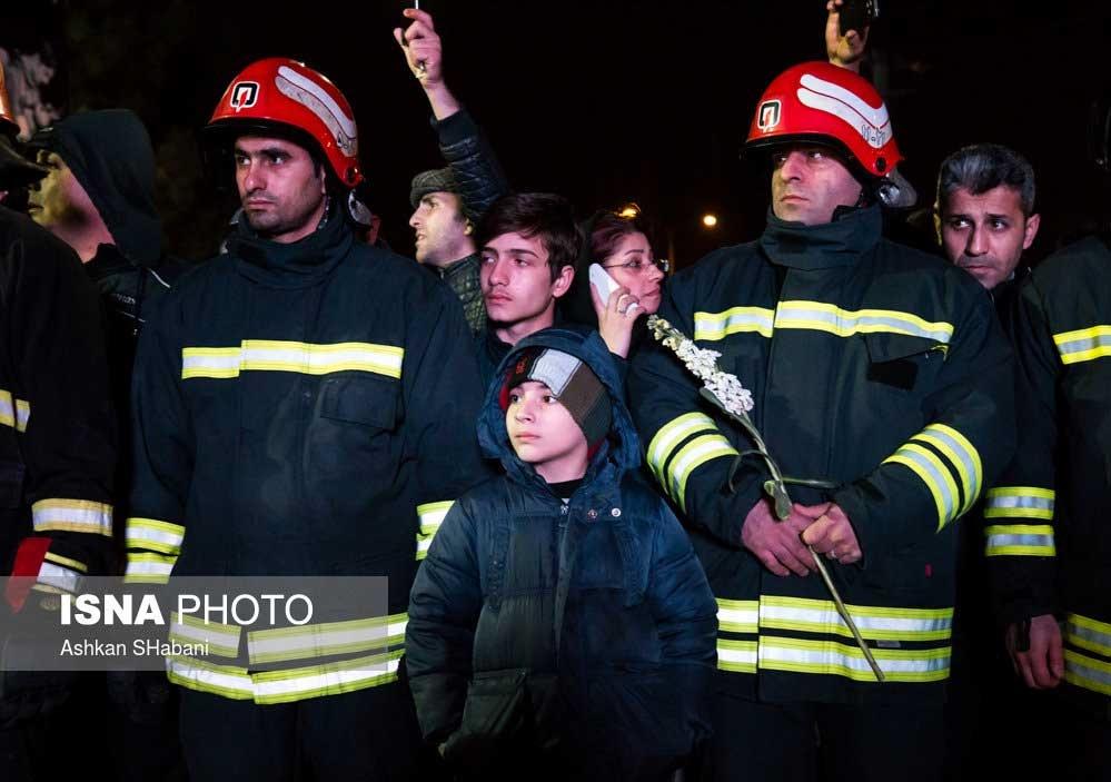 تصاویر | وداع با شهید آتشنشان گیلانی حادثه پلاسکو