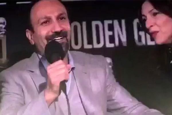 فیلم | اظهارات اصغر فرهادی در نشست گلدن گلوب که با خنده و تشویق حضار همراه شد