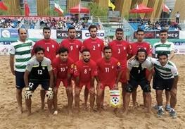 تیم فوتبال ساحلی به چین، افغانستان و مالزی خورد