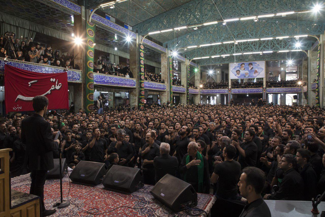 عزادارای هیاتهای سینهزنی یزد در مسجد حظیره