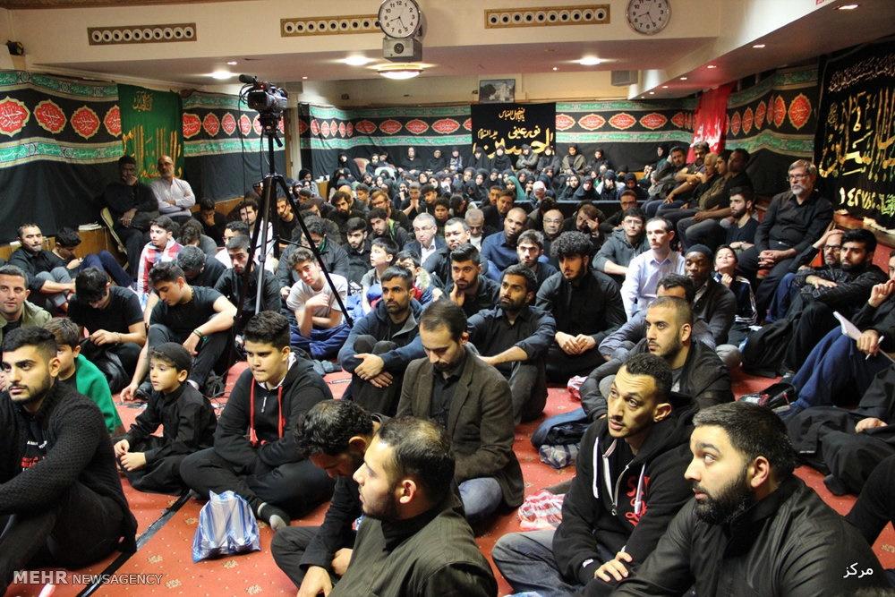 تصاویر | مراسم عزاداری در مرکز اسلامی لندن