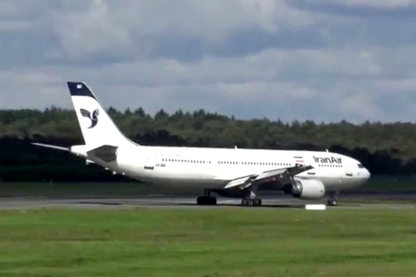فیلم | فرود ایرباس A300 هما در فرودگاه هامبورگ آلمان