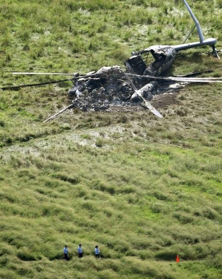 تصاویر | سقوط بالگرد آمریکایی در ژاپن