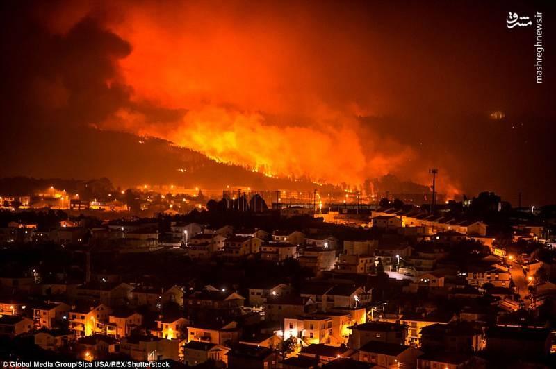 تصاویر   آتشسوزی مرگبار در پرتغال