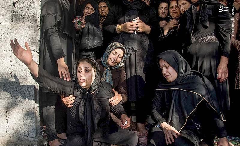 تصاویر | مراسم خاکسپاری کودک گیلانی که به شکلی فجیع به قتل رسید