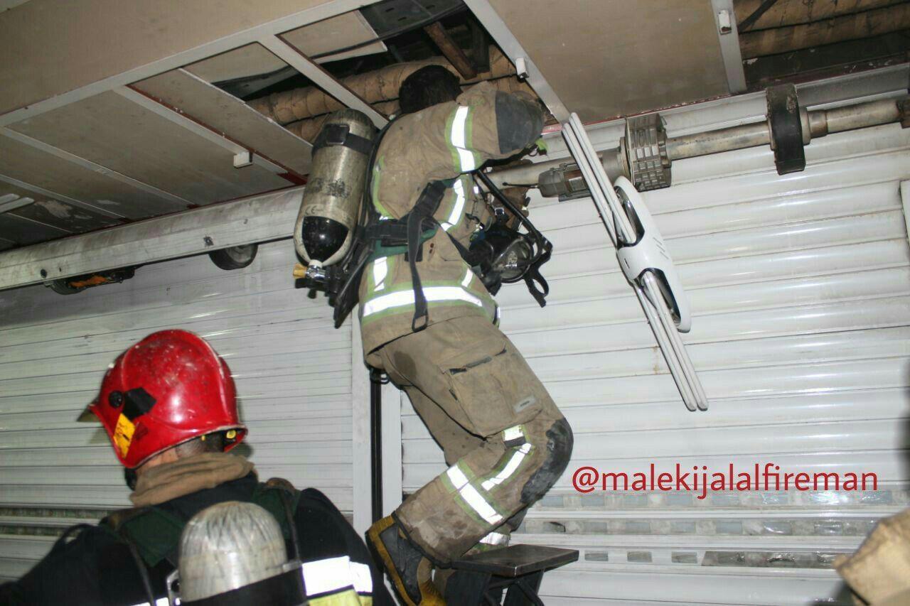 تصاویر   آتشسوزی در طبقه ششم پاساژ علاءالدین
