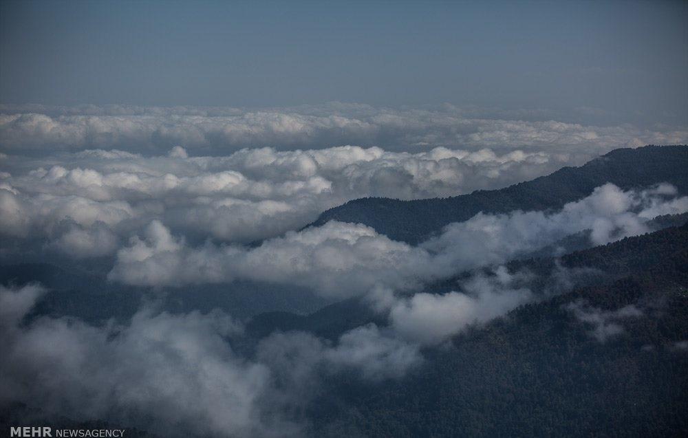 تصاویر | قدم زدن روی ابرهای پنبهای فیلبند