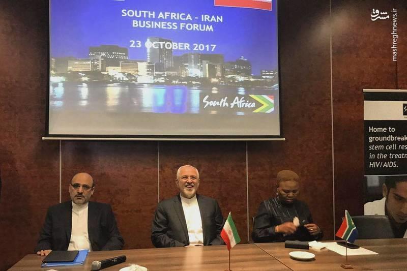 عکس   مجمع تجاری ایران و آفریقای جنوبی با حضور ظریف